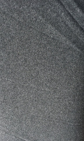 Mottled Charcoal Grey smooth ribbing (70cm total width) - Kailuna Fabrics Uk Jersey Fabric