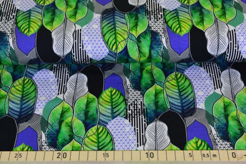 Leaves Green PRE ORDER - Kailuna Fabrics Uk Jersey Fabric