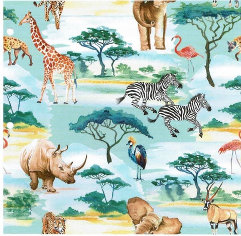 Jungle Safari French terry - Kailuna Fabrics Uk Jersey Fabric