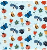Bees and Butterflies Jersey PRE ORDER - Kailuna Fabrics Uk Jersey Fabric
