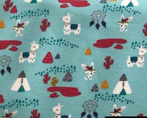 Llama teepee French Terry - Kailuna Fabrics Uk Jersey Fabric
