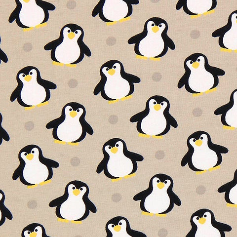Penguin Christmas Jersey Sand OFFCUT 62cm