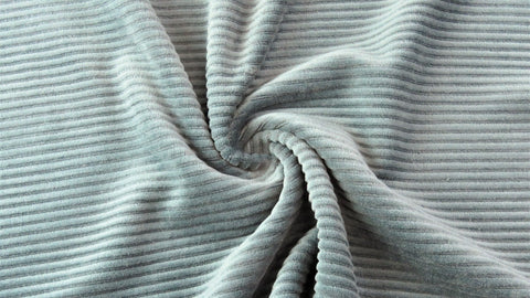 Pale grey/blue/green stretch corduroy - Kailuna Fabrics Uk Jersey Fabric