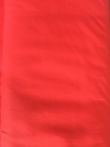 Coral Orangey Red Jersey Solid - Kailuna Fabrics Uk Jersey Fabric