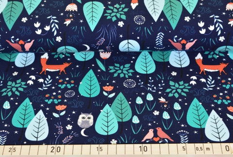 Fox Navy PRE ORDER - Kailuna Fabrics Uk Jersey Fabric