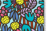 Funky flowers bright jersey PRE ORDER - Kailuna Fabrics Uk Jersey Fabric