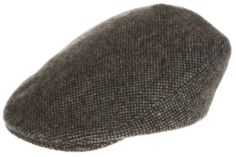 Hanna Hats Tailor Cap Tweed Granite Grey Salt & Pepper