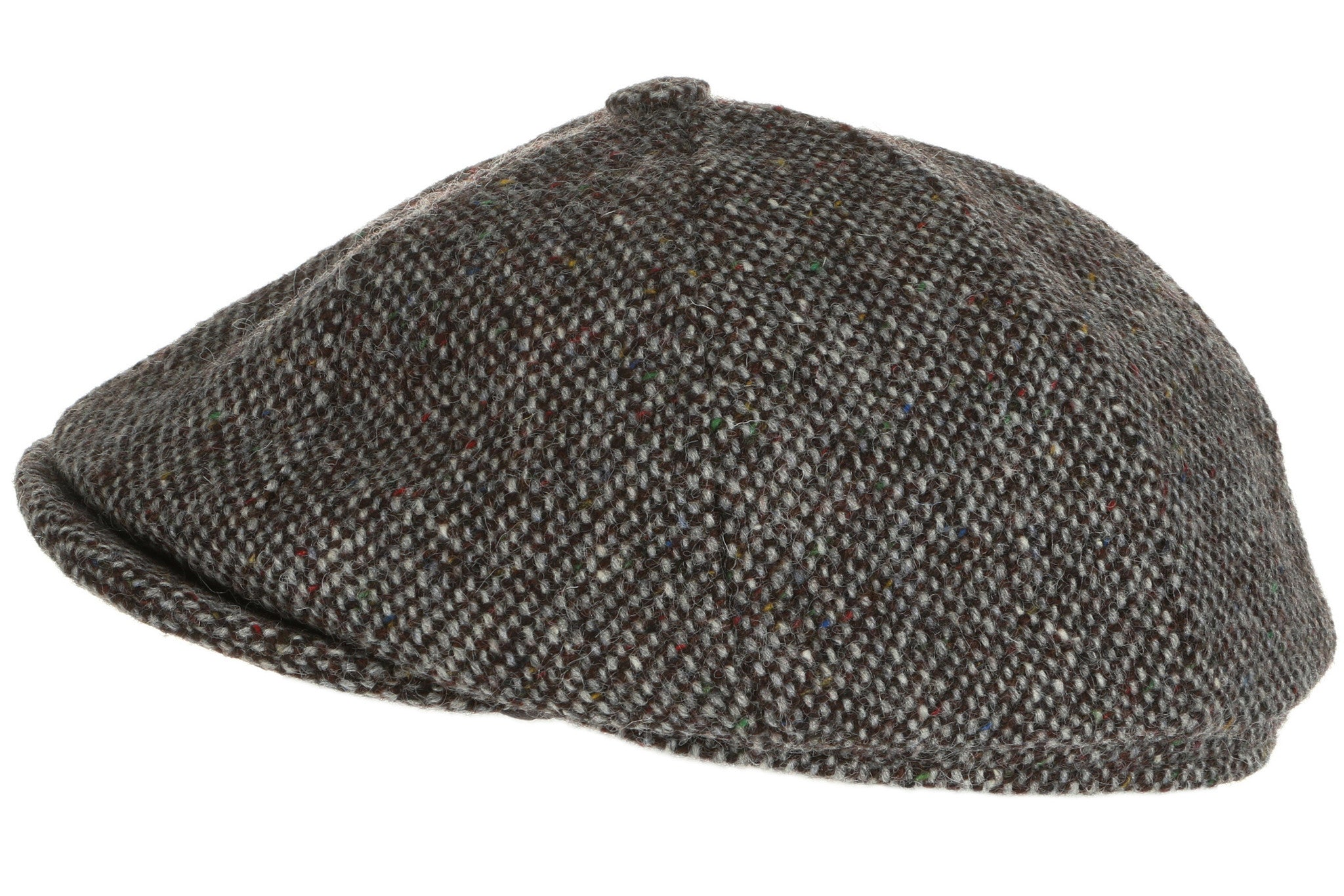 e44b3a1f ... Herringbone Hanna Hats Newsboy Cap Tweed Grey Salt-n-Pepper ...