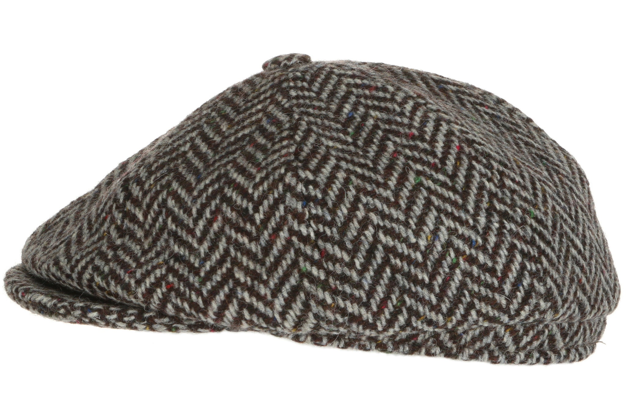 29351992 ... Hanna Hats Newsboy Cap Tweed Grey Herringbone ...