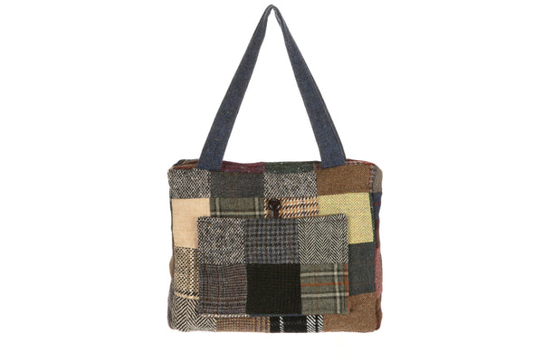Hanna Hats Jessie Bag Patchwork Tweed