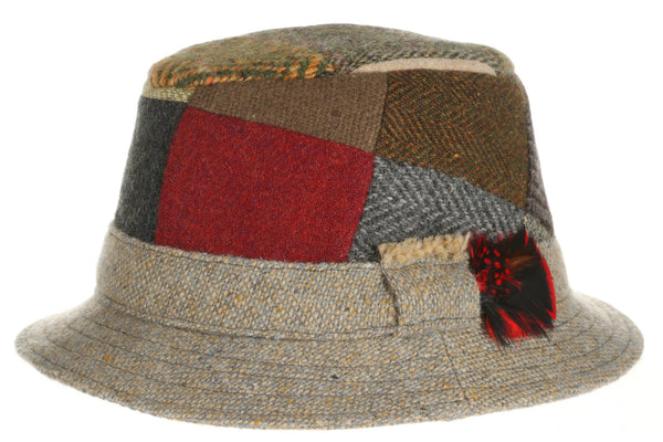 Hanna Hats Dave Hat Patchwork Tweed