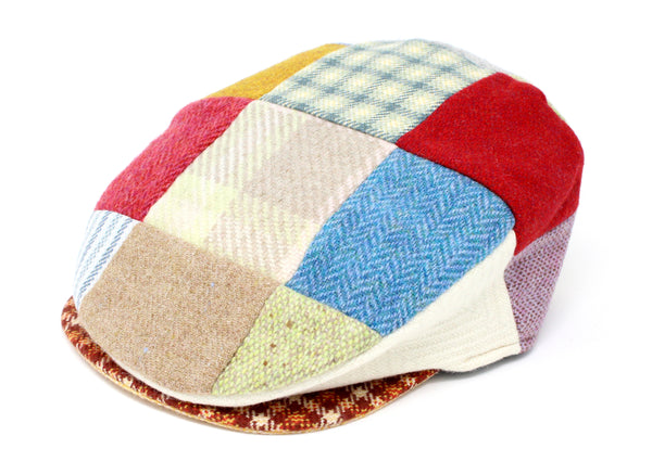 Hanna Hats Vintage Cap Bright Patchwork Tweed