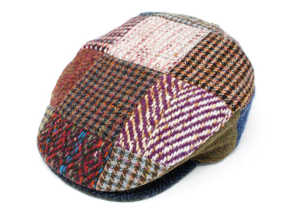 Hanna Hats Vintage Cap Heavy Patchwork Tweed