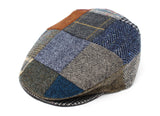 Hanna Hats Vintage Cap Patchwork Tweed