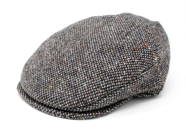Hanna Hats Vintage Cap Tweed - Granite Grey Salt & Pepper