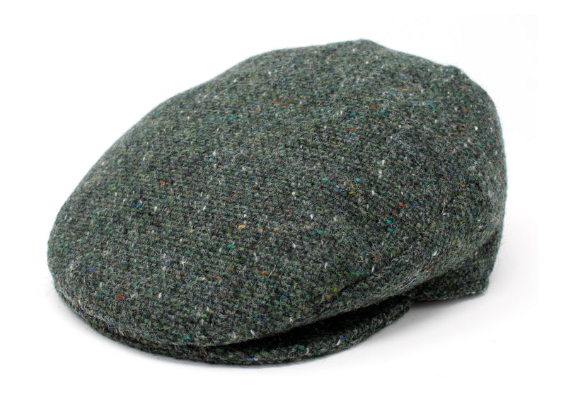 Hanna Hats Vintage Cap Tweed - Dark Green Fleck Salt & Pepper