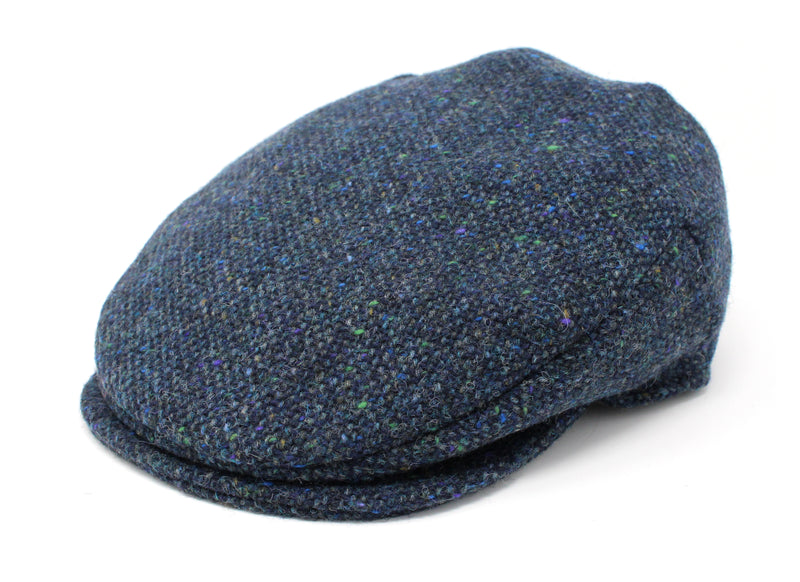 Hanna Hats Vintage Cap Tweed - Navy & Aqua Salt & Pepper Tweed