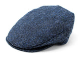 Hanna Hats Vintage Cap Tweed - Classic Blue & Black Herringbone - Harris Scottish Tweed