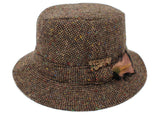 Hanna Hats Walking Hat Tweed - Brown Fleck Salt & Pepper