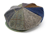 Hanna Hats Eight Piece Cap Patchwork Tweed