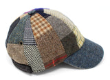 Hanna Hats Baseball Cap Small Patchwork Tweed