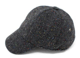 Hanna Hats Baseball Cap Tweed - Dark Grey Charcoal Fleck Salt & Pepper