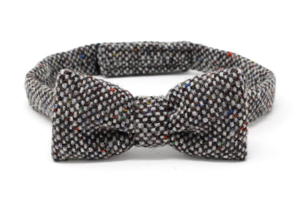 Hanna Hats Bow Tie Tweed - Granite Grey Salt & Pepper