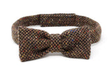 Hanna Hats Bow Tie Tweed - Brown Fleck Salt & Pepper