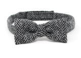 Hanna Hats Bow Tie Tweed - Classic Black & White Herringbone