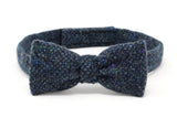 Hanna Hats Bow Tie Tweed - Navy & Aqua Salt & Pepper