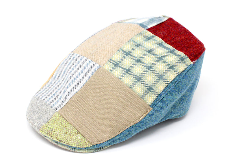 Hanna Hats Donegal Touring Cap Bright Patchwork Tweed