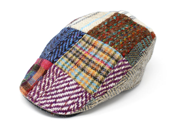 Hanna Hats Donegal Touring Cap Heavy Patchwork Tweed