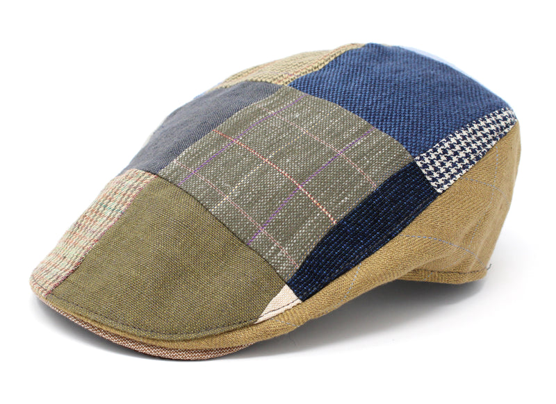 Hanna Hats Donegal Touring Cap Patchwork Linen