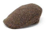 Hanna Hats Donegal Touring Cap Tweed - Brown Fleck Salt & Pepper