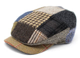 Hanna Hats Daithi Cap Patchwork Tweed
