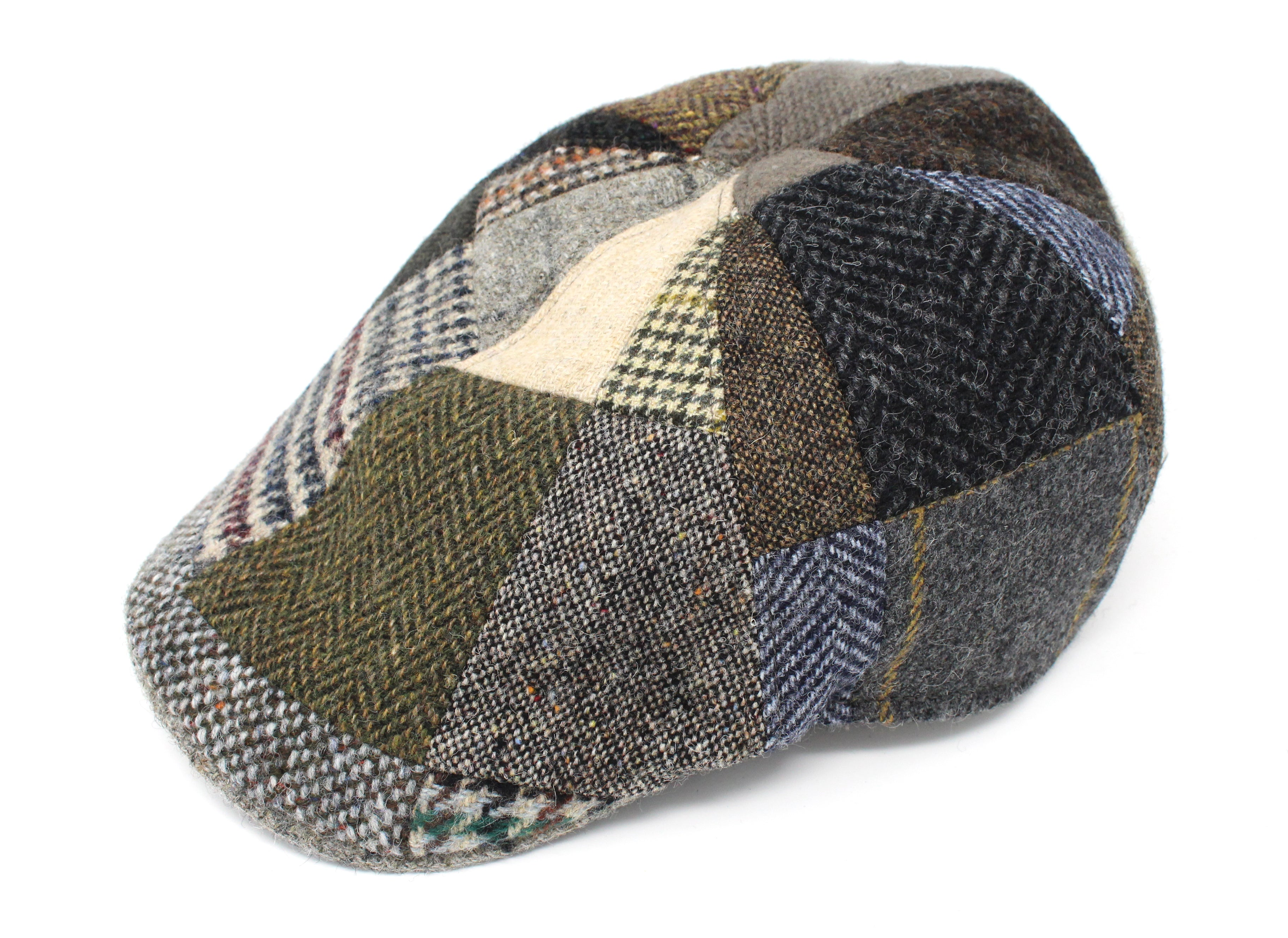 bccfa818617b8 Erin Cap Patchwork Tweed. Touch to zoom