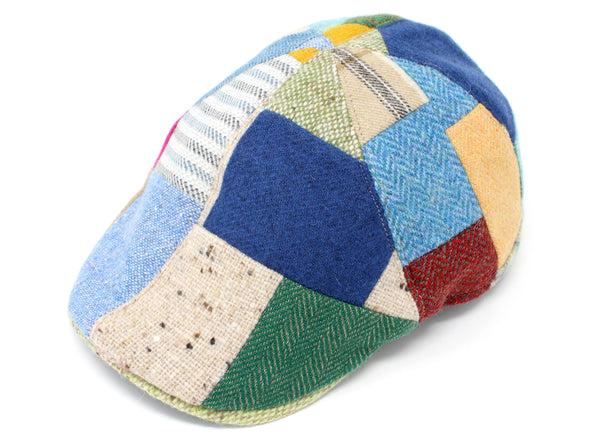Hanna Hats Erin Cap Bright Patchwork Tweed