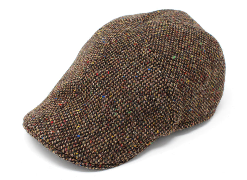 Hanna Hats Erin Cap Tweed - Brown Fleck Salt & Pepper