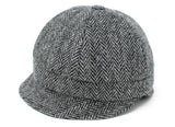 Hanna Hats Slieve League Hat Tweed - Classic Black & White Herringbone