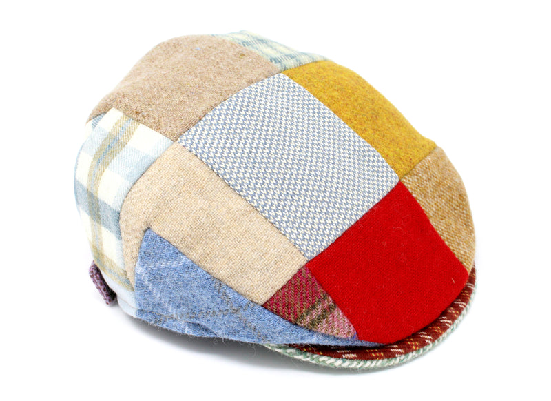 Hanna Hats Children's Cap Bright Patchwork Tweed