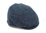 Children's Cap Tweed - Navy & Aqua Salt & Pepper