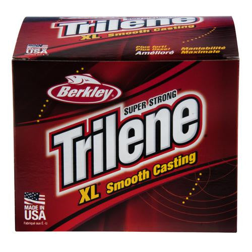 "Berkley Trilene XL Monofilament Service Spool - 3000 Yards, 0.011"" Diameter, 10 lb Breaking Strength, Clear"