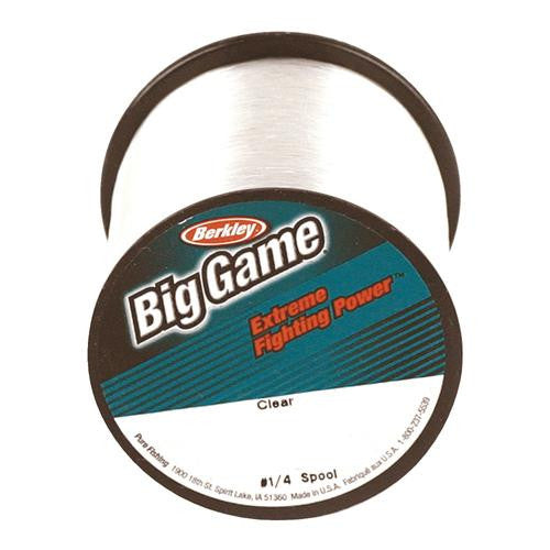 "Berkley Trilene Big Game Monofilament Line Spool - 900 Yards, 0.015"" Diameter, 15 lb Breaking Strength, Clear"