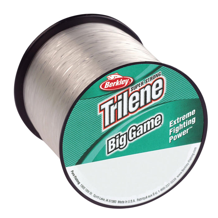 "Trilene Big Game Monofilament Line Spool - 650 Yards, 0.018"" Diameter, 20 lb Breaking Strength, Clear"