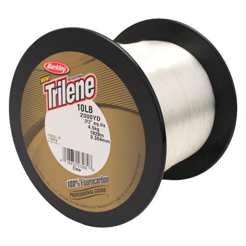 "Berkley Trilene 100% Fluorocarbon Professional Grade Line Spool - 2000 Yards, 0.012"" Diameter, 10 lbs Breaking Strength, Clear"