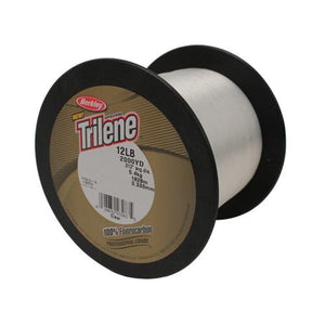 "Berkley Trilene 100% Fluorocarbon Professional Grade Line Spool - 2000 Yards, 0.013"" Diameter, 12 lbs Breaking Strength, Clear"