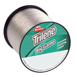 "Berkley Trilene Big Game Monofilament Line Spool - 235 Yards, 0.030"" Diameter, 60 lbs Breaking Strength, Clear"