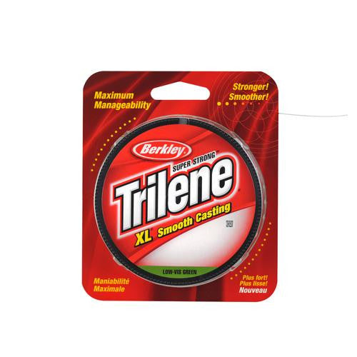 "Berkley Trilene XL Monofilament Line Spool - 300 Yards, 0.013"" Diameter, 12 lb Breaking Strength, Low Vis Green"