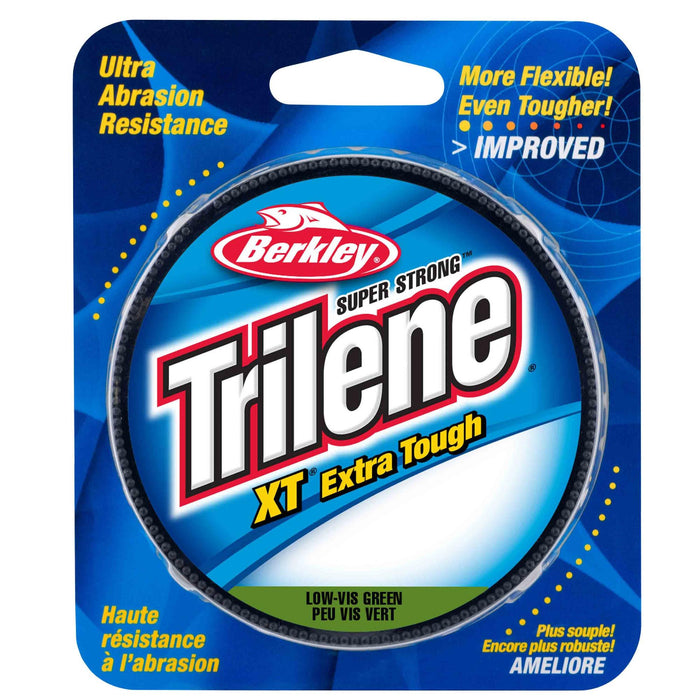 "Trilene XT  Monofilament Line Spool - 300 Yards, 0.014"" Diameter, 10 lb Breaking Strength, Low-Vis Green"