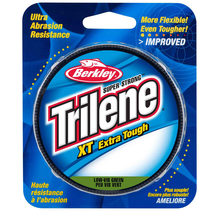 "Trilene XT  Monofilament Line Spool - 300 Yards, 0.016"" Diameter, 14 lb Breaking Strength, Low-Vis Green"